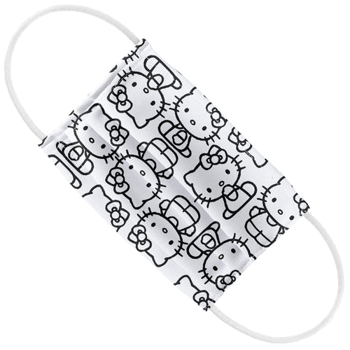 Hello Kitty Line Art Pattern Kids Flat View
