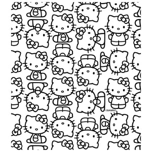 Load image into Gallery viewer, Hello Kitty Line Art Pattern Kids Mask Design Full View
