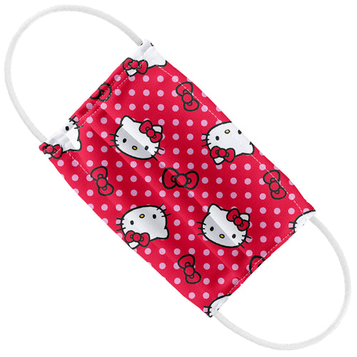 Hello Kitty Red and Pink Polka Dot Pattern Kids Flat View