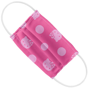 Hello Kitty Pink Polka Dots Pattern Kids Flat View