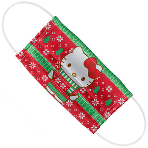 Adult Hello Kitty Plaid Kitty Christmas Trees Adult Flat View