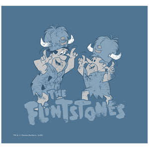 The Flintstones Old Fred and Barney Adult Mask Design Full View