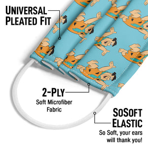 The Flintstones Fred Character Pattern Adult Universal Pleated Fit, 2-Ply, SoSoft Elastic Earloops