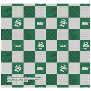 Harry Potter Slytherin Checkerboard House Pattern Adult Mask Design Full View