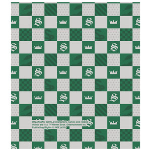 Harry Potter Slytherin Checkerboard House Pattern Kids Mask Design Full View