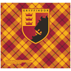 Load image into Gallery viewer, Harry Potter Gryffindor Plaid Logo Adult Mask Design Full View