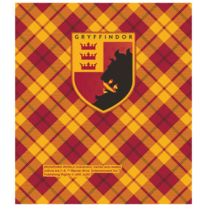 Load image into Gallery viewer, Harry Potter Gryffindor Plaid Logo Kids Mask Design Full View