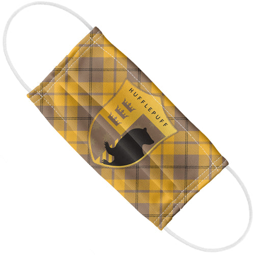 Harry Potter Hufflepuff Plaid Logo Adult Flat View