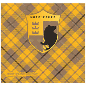 Harry Potter Hufflepuff Plaid Logo Adult Mask Design Full View