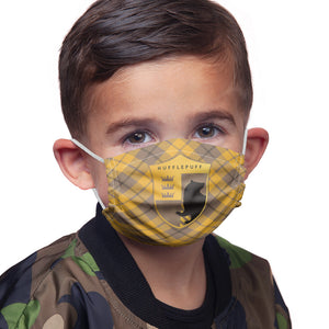 Load image into Gallery viewer, Harry Potter Hufflepuff Plaid Logo Kids Main Model View