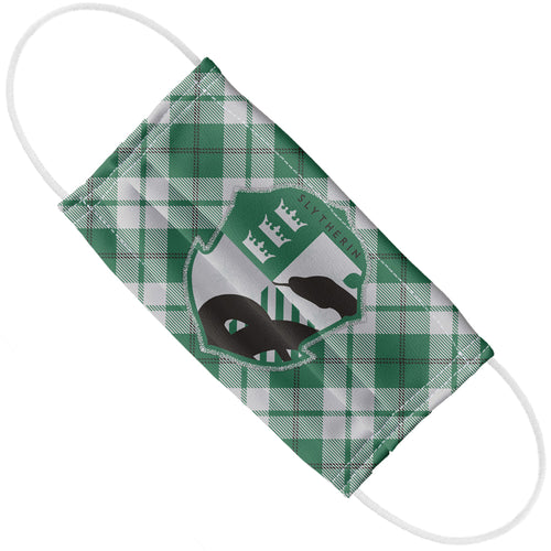 Harry Potter Slytherin Plaid Logo Adult Flat View