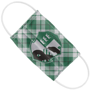 Load image into Gallery viewer, Harry Potter Slytherin Plaid Logo Kids Flat View