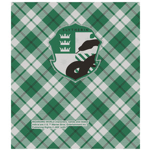 Load image into Gallery viewer, Harry Potter Slytherin Plaid Logo Kids Mask Design Full View