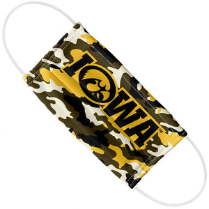 Load image into Gallery viewer, University of Iowa Hawkeyes Camo Adult Flat View