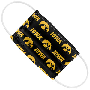 University of Iowa Hawkeyes Logo Repeat -  Iowa Home Kids Flat View