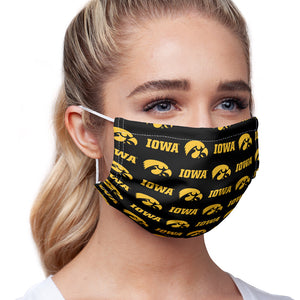 University of Iowa Hawkeyes Logo Repeat -  Iowa Home Adult Main/Model View