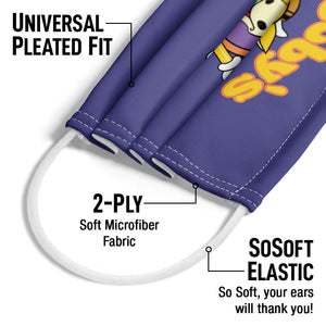Jay and Silent Bob Mooby's Adult Universal Pleated Fit, 2-Ply, SoSoft Elastic Earloops