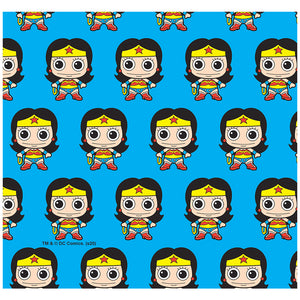 Wonder Woman Cute Chibi Pattern Adult Mask Design Full View