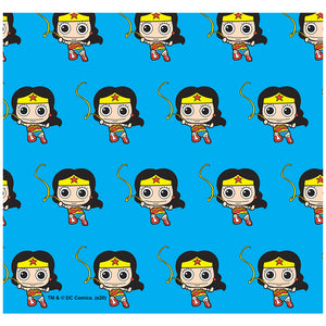 Wonder Woman Cute Chibi Golden Lasso Pattern Adult Mask Design Full View