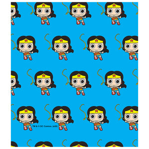 Load image into Gallery viewer, Wonder Woman Cute Chibi Golden Lasso Pattern Kids Mask Design Full View