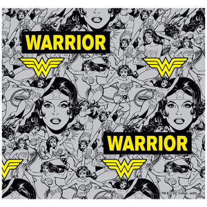 Wonder Woman Warrior Pattern Adult Mask Design Full View