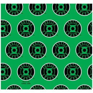 Justice League Green Lantern Athletic Logo Pattern Adult Mask Design Full View
