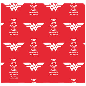 Wonder Woman Keep Calm and Call Pattern Adult Mask Design Full View