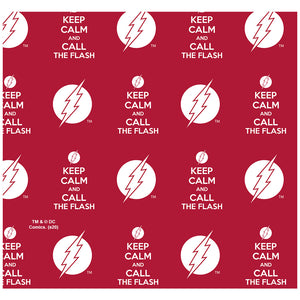 The Flash Keep Calm and Call Pattern Adult Mask Design Full View