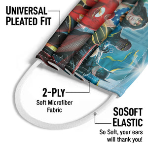 Justice League Alex Ross Painting Kids Universal Pleated Fit, 2-Ply, SoSoft Elastic Earloops