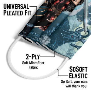 Load image into Gallery viewer, Wonder Woman Sword in Hand Adult Universal Pleated Fit, 2-Ply, SoSoft Elastic Earloops