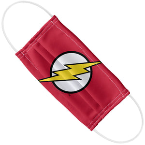 The Flash Lightning Bolt Logo Adult Flat View