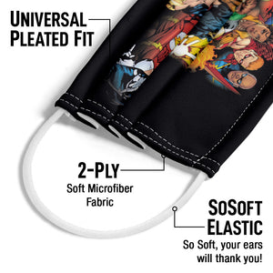 Justice League The Leagues All Here Adult Universal Pleated Fit, 2-Ply, SoSoft Elastic Earloops