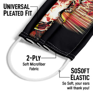 The Flash Street Speed Adult Universal Pleated Fit, 2-Ply, SoSoft Elastic Earloops