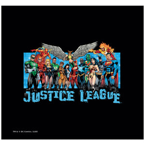 Justice League League Lineup Adult Mask Design Full View