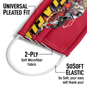 The Flash Flash Family Adult Universal Pleated Fit, 2-Ply, SoSoft Elastic Earloops