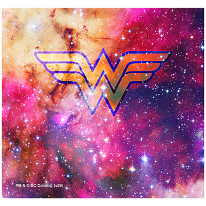 Load image into Gallery viewer, Wonder Woman Galaxy Logo Adult Mask Design Full View