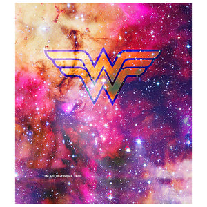 Load image into Gallery viewer, Wonder Woman Galaxy Logo Kids Mask Design Full View