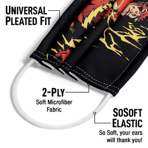 The Flash Flare Adult Universal Pleated Fit, 2-Ply, SoSoft Elastic Earloops