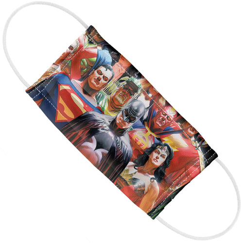 Justice League Alex Ross Wall of Heros Adult Flat View