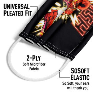 The Flash Glow Adult Universal Pleated Fit, 2-Ply, SoSoft Elastic Earloops