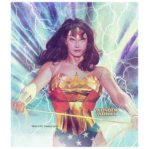 Load image into Gallery viewer, Wonder Woman Alex Ross Stormy Kids Mask Design Full View
