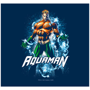 Load image into Gallery viewer, Aquaman Water Powers Adult Mask Design Full View