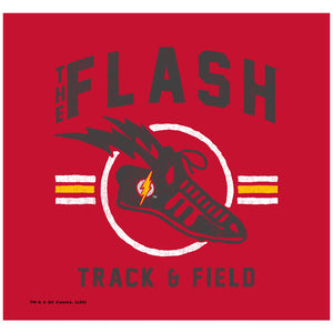 The Flash Track and Field Adult Mask Design Full View