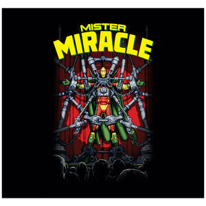 Justice League Mister Miracle Adult Mask Design Full View