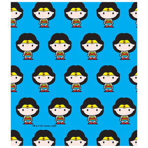 Wonder Woman Cute Chibi Character Pattern Kids Mask Design Full View