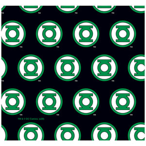 Green Lantern Circle Logo Pattern Adult Mask Design Full View