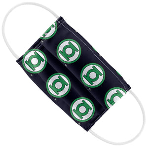 Green Lantern Circle Logo Pattern Kids Flat View