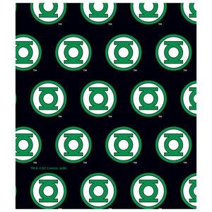 Green Lantern Circle Logo Pattern Kids Mask Design Full View