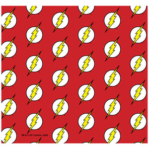 The Flash Lightning Bolt Logo Pattern Adult Mask Design Full View
