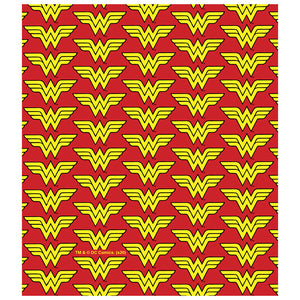 Wonder Woman Classic Logo Pattern Kids Mask Design Full View